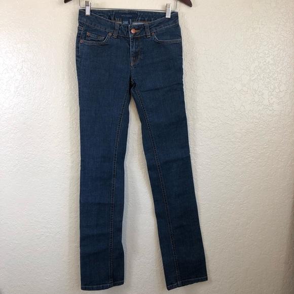 2947772f Zara Jeans | Dark Wash Skinny With Leopard Label | Poshmark